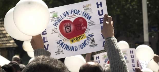 Nota de prensa Huelva por una Sanidad Digna