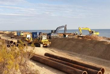 Finalizan los trabajos de aportación de arena en la playa de Islantilla