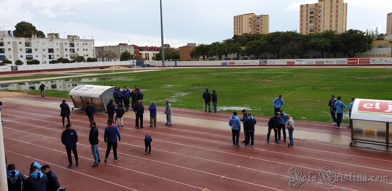 Las fuertes lluvias obligan la suspensión del Isla Cristina – Atlético Algabeño