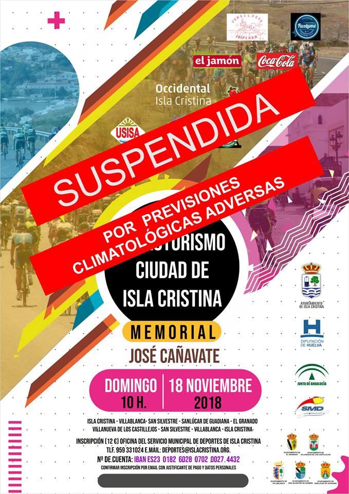 Suspendida la XV Ruta Cicloturista «José Cañavate» por Causas Meteorológicas