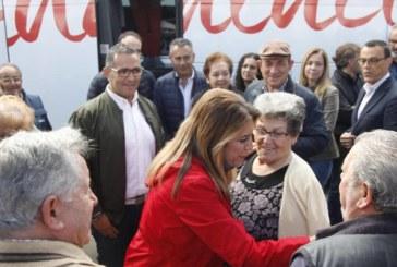 Susana Díaz pide mayoría en su visita a Isla Cristina