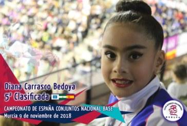 La Gimnasta isleña Diana Carrasco Bedoya, quinta de España y primera de Andalucía