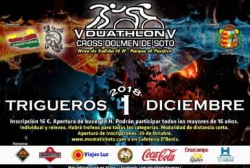 Trigueros celebra el V Duathlón Cross Dolmen de Soto
