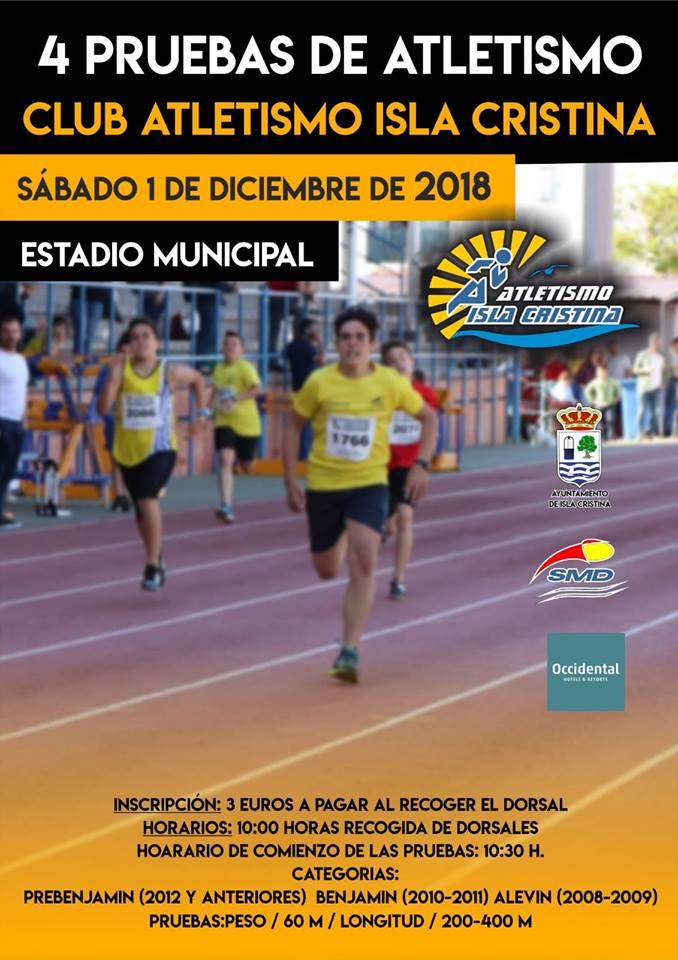 """Isla Cristina celebra la """"4 Pruebas de Atletismo"""""""