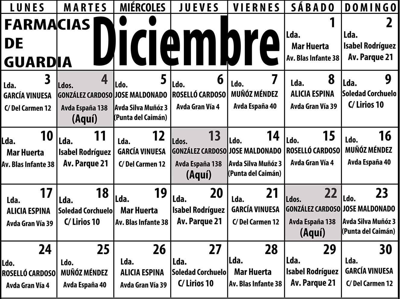 Farmacias de guardia para el mes de diciembre en isla cristina isla - Farmacia guardia puerto del rosario ...