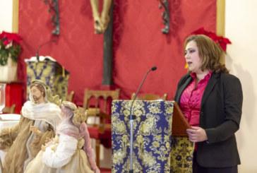 Aurora Gema Lozano Exaltó la Navidad Isleña