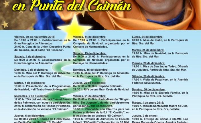 Programación Navidad 2018 en Punta del Caimán, Isla Cristina