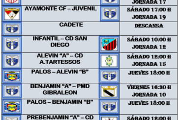 Agenda del fin de Semana : 11 – 13 Enero 2019 Isla Cristina FC