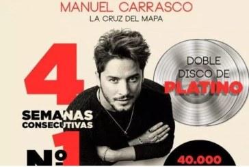 El nuevo disco del cantante isleño Manuel Carrasco, La cruz del mapa, es ya Doble Platino