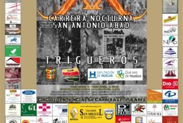 Trigueros celebra la XX Carrera Nocturna San Antonio Abad