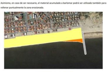 Espigón para frenar la erosión de las playas de La Antilla e Islantilla