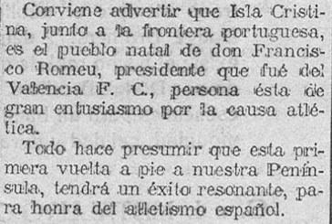 Un isleño, fue presidente del Valencia CF en los años 20