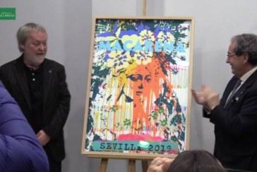 El artista isleño Manolo Cuervo presentó su cartel de la Semana Santa para La Macarena
