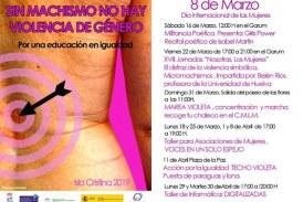 """Programación """"Día Internacional de las Mujeres"""" Isla Cristina"""