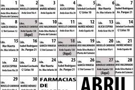Farmacias de guardia en Isla Cristina Abril 2019