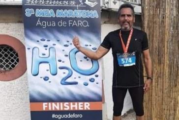El atleta isleño Joaquín Santos, destaca en Portugal