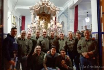 El Grupo «Los Locos del Camino» cierra la Salve en la Hermandad del Rocío de Isla Cristina