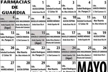 Farmacias de guardia en Isla Cristina mes de Mayo 2019