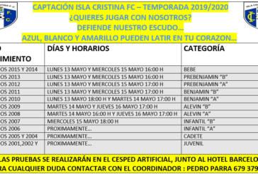Captación de futboleros del Isla Cristina FC