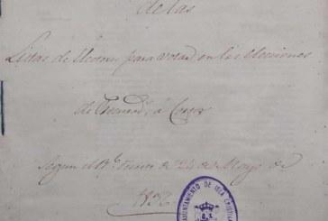 Documento del mes de Mayo del archivo municipal de Isla Cristina (Elecciones 1836)
