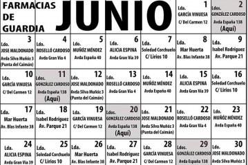 Farmacias de guardia Isla Cristina Junio 2019
