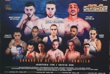 Miguel Pérez en la gala 'On Fighter'… una fiesta del boxeo granadino