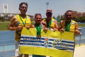 Oro y Plata para Elena Cobos, Seve Sequera, Joaquín Santos y Juan Manuel Real, en el Campeonato de Atletismo Master de aire libre