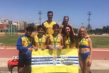 Oro Oro y Oro para el atletismo Isleño en Málaga