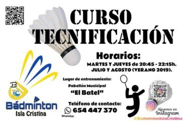 Abierta las Inscripciones en Isla Cristina para los cursos de verano de Bádminton