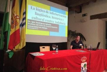 Ígor Rodríguez Iglesias habal sobre la inferiorización lingüística y cultural de Andalucía en los Martes Culturales