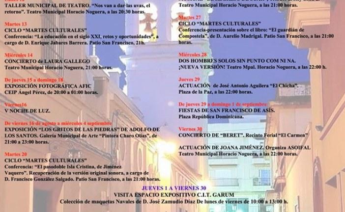Agenda Cultural Agosto 2019 «Isla Cristina»