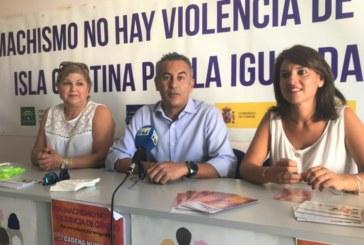 Cadena Humana en las Fiestas de la Virgen del Mar de Isla Cristina contra la Violencia a las Mujeres