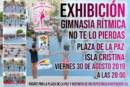 Exhibición de Gimnasia Rítmica en Plaza de la Paz de Isla Cristina