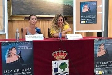 La cantante Laura Gallego celebra diez años de carrera volviendo a Isla Cristina