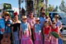 Peña de Hermanos de la Hermandad de Santa Fe cantan la Salve en Isla Cristina