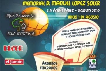 Calendario Fase final del Torneo Internacional de Baloncesto Ciudad de Isla Cristina