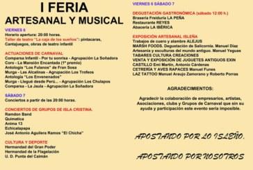 Isla Cristina acoge la «I Feria Arte Isleño»