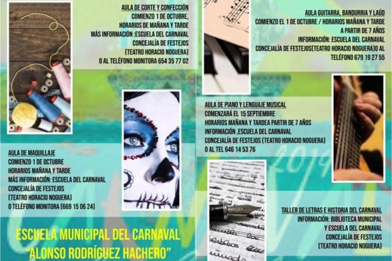 La Escuela Municipal del Carnaval Alonso Rodríguez Hachero te espera.