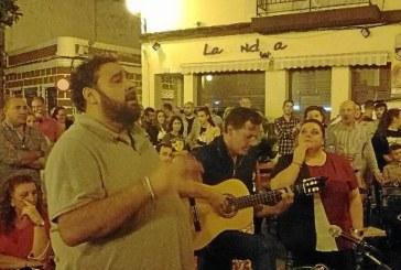 José Villata, Mª Carmen Verdún y J. A. Monclova cantan la salva en Isla Cristina