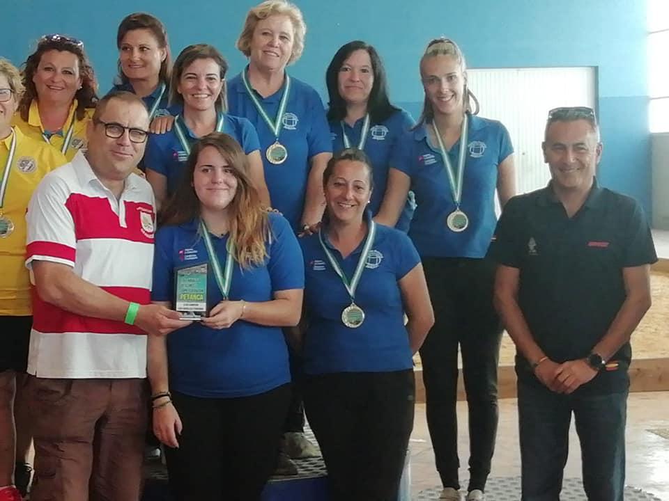 Andrea Garcés y Andrea Nieves, Campeonas de Andalucía de Petanca
