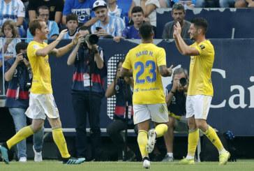 El isleño Caye Quintana firma frente al Málaga el mejor gol de la jornada 11 de La Liga SmartBank4