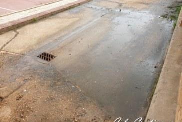 Aguas fecales obliga a cerrar parte del patio del colegio La Higuerita de Pozo del Camino