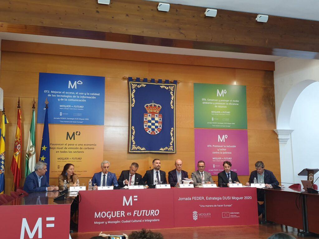 Isla Cristina, presente en unas jornadas sobre el plan EDUSI celebradas en Moguer