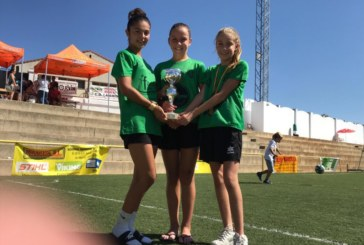 María del Mar, Paula y Natalia, en el Campeonatos de Andalucía de fútbol y fútbol sala