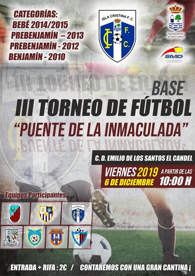 """Isla Cristina acoge el III Torneo de Fútbol Base """"Puente de la Inmaculada"""""""