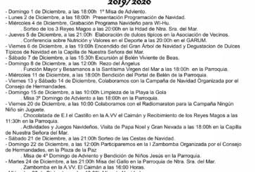 Programación Navidad en Punta del Caimán 2019/2020