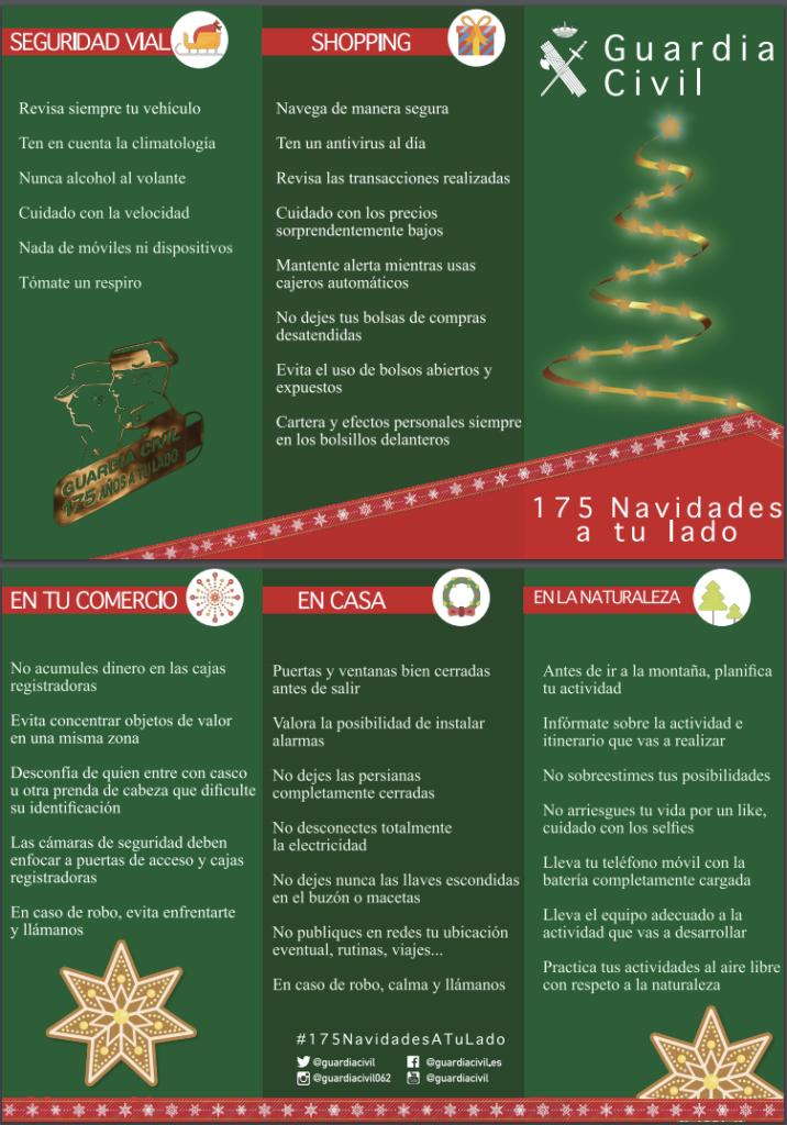 """La Guardia Civil lanza la campaña """"175 navidades a tu lado"""" para unas fiestas seguras"""