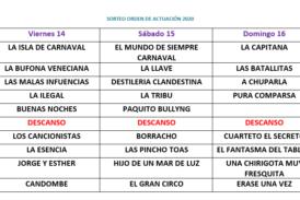 Preliminares del LIII Concurso de agrupaciones Carnaval de Isla Cristina 2020