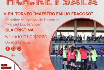 Isla Cristina acoge el Campeonato Provincial de Hockey Sala y V Ed. 'Maestro Emilio Fragoso.'