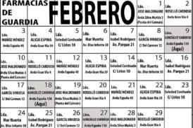 Farmacias de Guardia en Isla Cristina para el mes de Febrero 2020